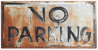 Rejuvenation Rustic Hand-Painted Black and White No Parking Sign