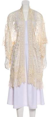Anna Sui Lace Open Front Cardigan