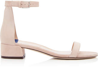 Stuart Weitzman Less Nudist Suede Sandals