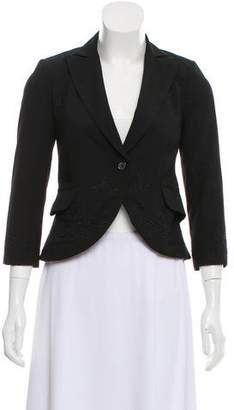 Robert Rodriguez Embroidered Three-Quarter Length Sleeve Blazer