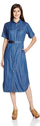 G-Star Raw Women's Tacoma Maxi Dress in Light Weight Ferry Denim $170 thestylecure.com