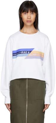 Rag & Bone White Glitch Pullover Sweatshirt