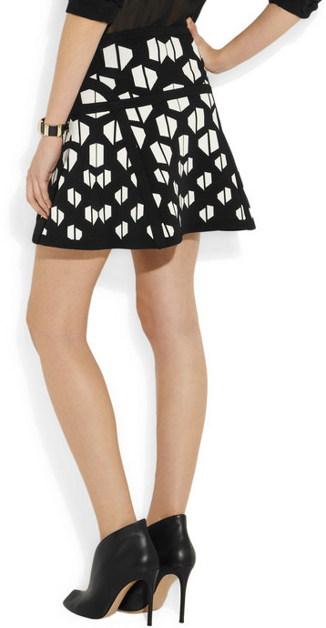 Diane von Furstenberg Flote intarsia stretch-knit mini skirt