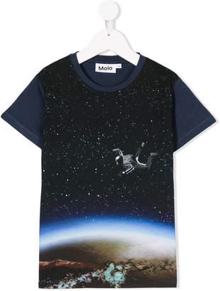 Molo sky diver-print T-shrit