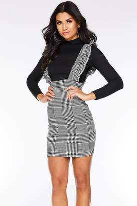 bfb8ef8150e Quiz Grey Black and White Check Print Pinafore