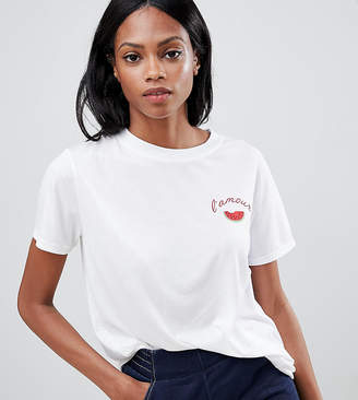 Whistles Exclusive L'amour Embroidered T-Shirt