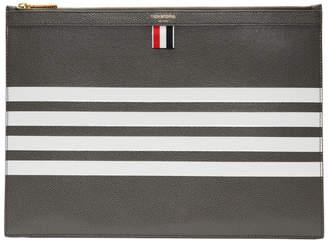 Thom Browne Grey Four Bar Zipper Document Holder