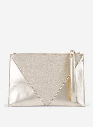 f05b169e336 Dorothy Perkins Womens Gold Glitter Clutch Bag