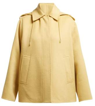 Joseph Carbon Hooded Wool Blend Coat - Womens - Camel