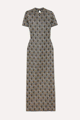 Paco Rabanne Metallic Jacquard-knit Maxi Dress - Gold