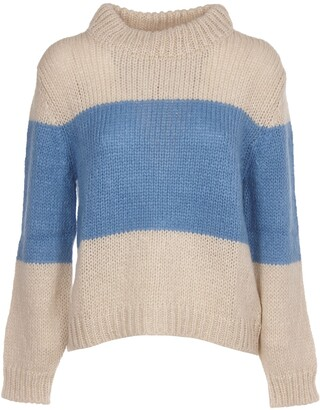 Semi-Couture Semicouture SEMICOUTURE Cream And Light Blue Sweater