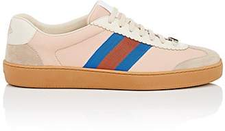 feb226b9cf7 Gucci Men s Web-Striped Leather   Suede Sneakers - Pink