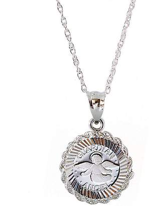 American Coin Treasures Sterling Silver Guardian Angel Pendant