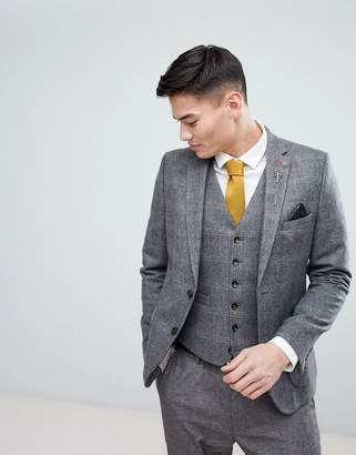 Burton Menswear Slim Blazer In Check
