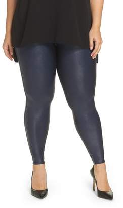 Spanx Faux Leather Leggings (Plus Size)