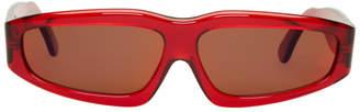 Marques Almeida Red Angler Sunglasses