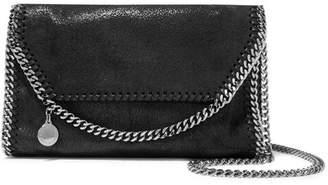 Stella McCartney The Falabella Faux Brushed-leather Shoulder Bag - Black