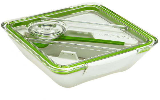 Container Store Box Appetit Lunch Box Lime/White