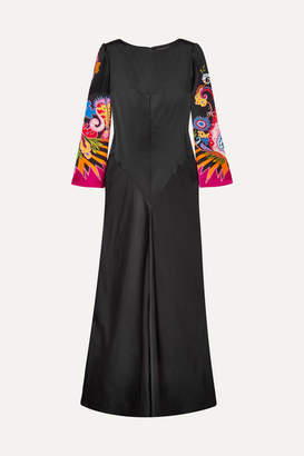 Etro Printed Satin Gown - Black