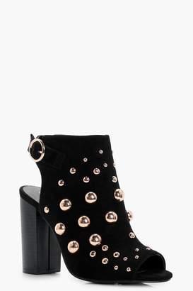 boohoo Oversized Stud Embellished Shoe Boots