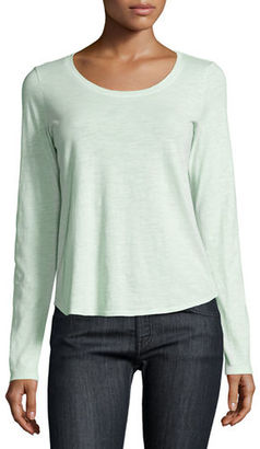 Eileen Fisher Long-Sleeve Organic Slub Jersey Tee $78 thestylecure.com