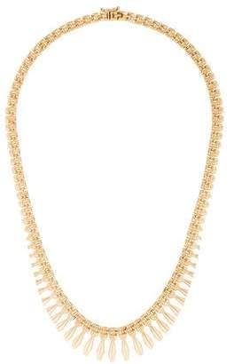 14K Fringe Chain Necklace