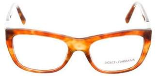 Dolce & Gabbana Tortoiseshell Square Eyeglasses