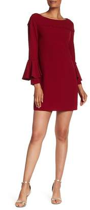 Laundry by Shelli Segal Button Detail Bell Sleeve Dress