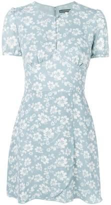 ALEXACHUNG Alexa Chung Hibiscus print short dress
