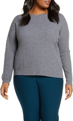 Eileen Fisher Mix Rib Cashmere Sweater