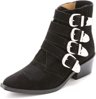 Toga Pulla Buckled Suede Booties