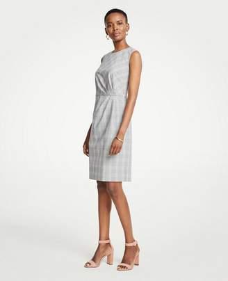 Ann Taylor Glen Plaid Ruched Sheath Dress
