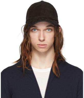 Giorgio Armani Black Lambskin Baseball Hat