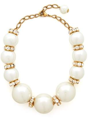 Dolce & Gabbana Oversized Faux Pearl And Crystal Necklace - Womens - Pearl