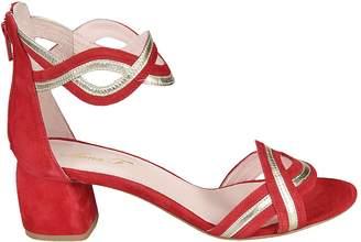 Anna F Rear Zipped Sandals