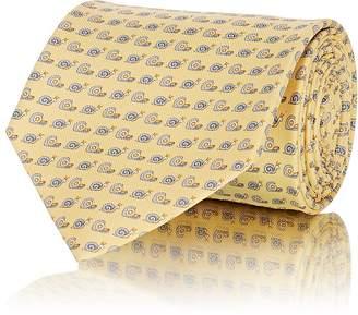 Salvatore Ferragamo Men's Snail-Print Silk Twill Necktie