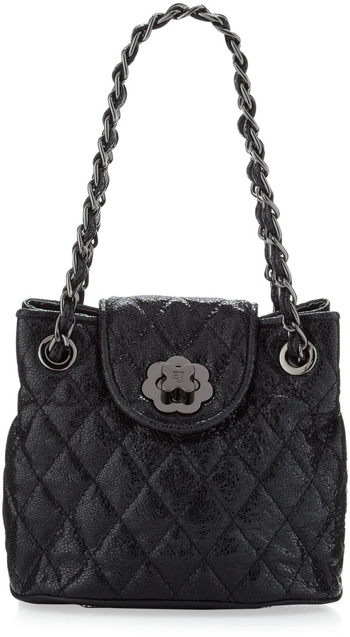 Eric Javits Mini Quilted Bag, Carbon