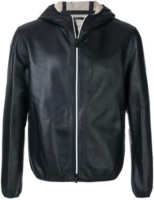 Z Zegna zipped hooded jacket