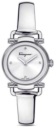 Salvatore Ferragamo Gancino Casual Silver Watch, 26mm