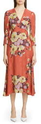 Etro Floral Jacquard A-Line Midi Dress