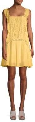 Free People Eyelet Ruffle-Trim Dress
