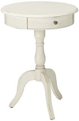 Décor Therapy FR1464 Pedestal Table with Drawer
