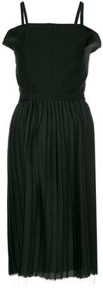 Bassike pleated belted dress
