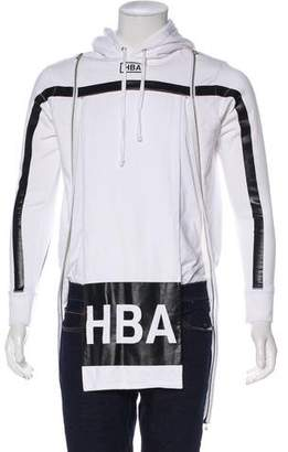 Hood by Air Zip-Accented Logo Hoodie w/ Tags