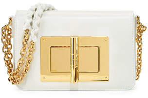 Tom Ford Natalia Small Chain Crossbody Bag, White