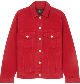Oversized Denim Jacket - Red