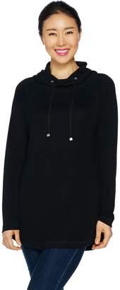 Isaac Mizrahi Live! SOHO Knit Long Sleeve Hooded Tunic
