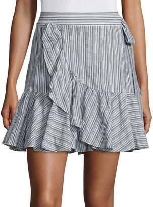Rebecca Taylor Striped Wool Blend Skirt