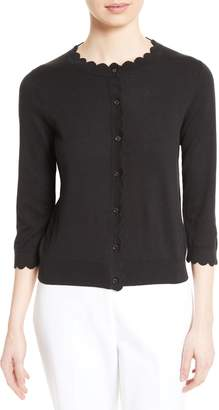 Kate Spade Scallop Silk Blend Cardigan