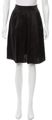 Giorgio Armani Pleated Satin Skirt